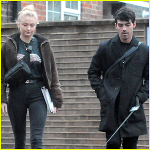 Sophie Turner Walks Her Dog Porky with Fiance Joe Jonas!