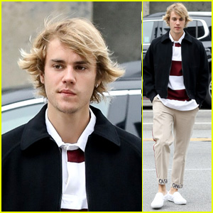 Justin Bieber Heads to Breakfast Wearing 'Cash Only' Khakis!