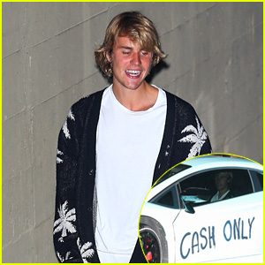 Justin Bieber Is All Smiles While Stepping Out of Church to His Spray Painted Car