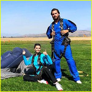 Kendall Jenner & Scott Disick Team Up for Skydiving Sesh!