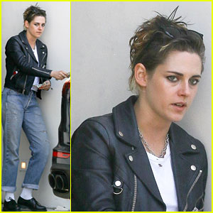 Kristen Stewart Shows Off 1950s Greaser Look