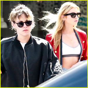 Stella Maxwell & Kristen Stewart Join Guy Pal For Vegan Meal