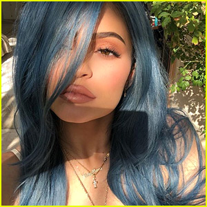Kylie Jenner Shows Off Latest Coachella Look - Denim Blue Hair!
