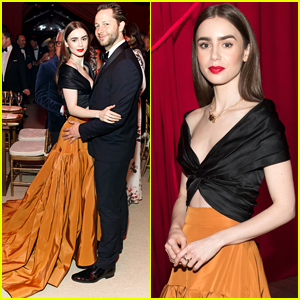 Lily Collins Heads To Museum of Ice Cream After Mid-Winter Gala Event