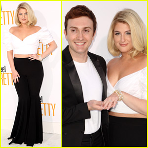 Meghan Trainor & Daryl Sabara Show Off Her Engagement Ring at 'I Feel Pretty' Premiere!