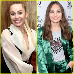 Miley Cyrus & Maddie Ziegler Attend My Friend's Place Charity Event
