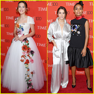Millie Bobby Brown Joins Aly Raisman & Yara Shahidi at Time 100 Gala!