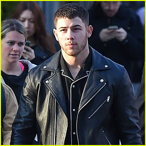 Nick Jonas Looks Sharp in Black Leather Jacket While Out in NYC