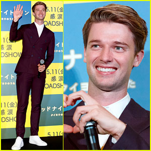 Patrick Schwarzenegger Practices His Japanese at 'Midnight Sun' Premiere