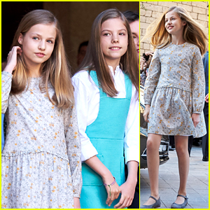 Princesses Leonor & Sofia of Spain Attend Easter Mass in Palma de Mallorca