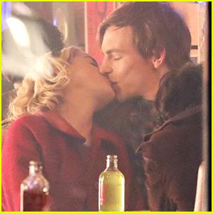 Ross Lynch Kisses Kiernan Shipka For 'Chilling Adventures of Sabrina' Diner Scene