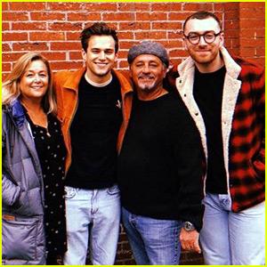 Brandon Flynn Shares Cute Photo with His Parents & Boyfriend Sam Smith!