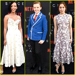 Taylor Russell & Mina Sundwall Bring Spring to 'Lost In Space' Premiere