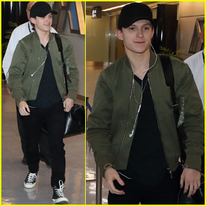 Tom Holland Arrives in Japan During 'Avengers' Promo Tour!