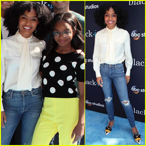Yara Shahidi & 'black-ish' Cast Reunite For Emmys Event