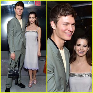 Ansel Elgort Carries a Handbag to Prada Show!