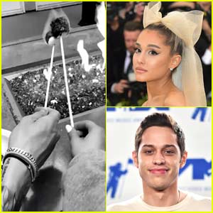 Ariana Grande & Pete Davidson Spend Time Together Over Memorial Day Weekend!
