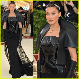 Bella Hadid Walks Met Gala 2018 Red Carpet in a Leather Look!