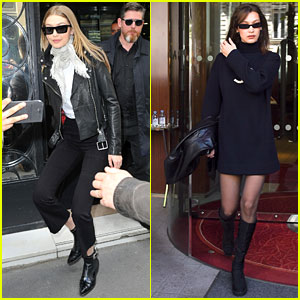 Gigi Hadid & Sister Bella Look Chic at Chanel Store in Paris