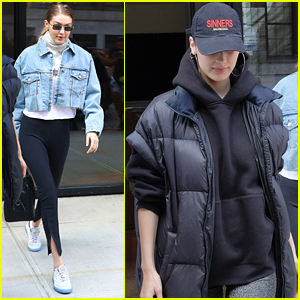 Gigi & Bella Hadid Bundle Up in NYC!