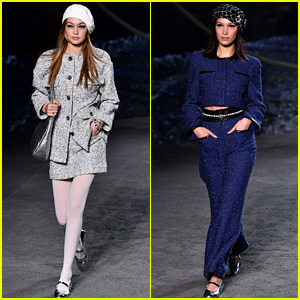 The Hadid Sisters Star in Chanel's Paris Show