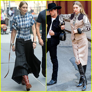 Gigi Hadid Channels Her Inner Cowgirl Alongside Bonner Bolton