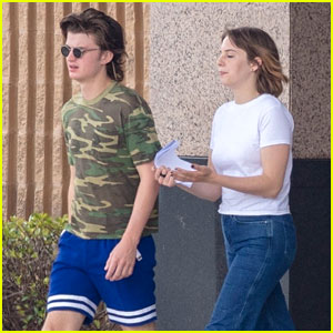 Joe Keery & Maya Hawke Hang Out on 'Stranger Things' Set