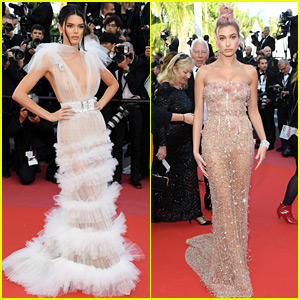 Kendall Jenner & Hailey Baldwin Wow in Gorgeous Gowns at Cannes Film Festival!