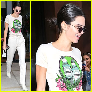 Kendall Jenner Wears Head to Toe White For Sunday Outing