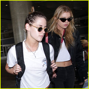 Kristen Stewart Arrives Home from Cannes with Girlfriend Stella Maxwell
