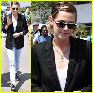 Kristen Stewart Goes For A Walk Around Cannes Film Festival