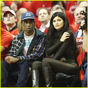 Kylie Jenner & BF Travis Scott Attend the Rockets Game in Houston!