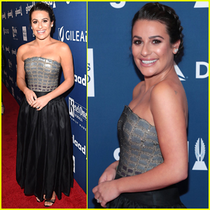 Lea Michele Shows Off Her Engagement Ring at GLAAD Media Awards 2018!