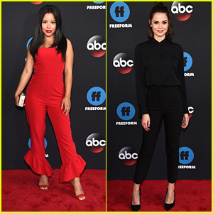 Maia Mitchell & Cierra Ramirez Step Out For Freeform Upfronts 2018