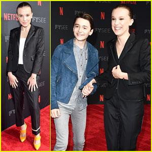 Millie Bobby Brown & Noah Schnapp Hold Hands at 'Stranger Things' FYSEE Panel