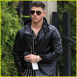 Nick Jonas Sports a Stripe Look While Grabbing Coffee!