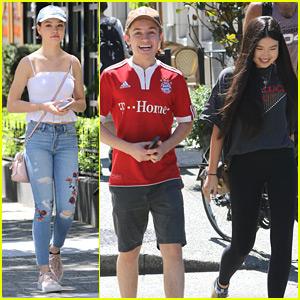 Erika Tham Takes Break From Filming 'Kim Possible' Movie With Co-star Sean Giambrone