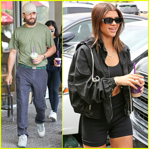 Sofia Richie Shows Some Skin for Coffee With Scott Disick