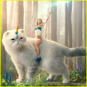 Taylor Swift & Her Cat Olivia Star in Funny Commercial for DirecTV Now - Watch!