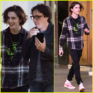 Timothee Chalamet is All Smiles While Out With a Friend in London