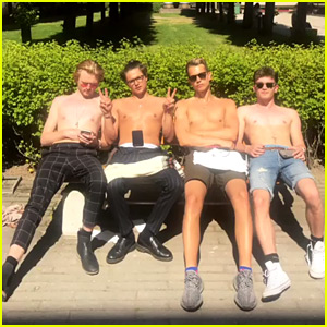 The Vamps Go Shirtless During Some Downtime on Tour - See The Pic!