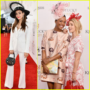Victoria Justice & Emily Bett Rickards Get Dressed Up For Kentucky Derby!