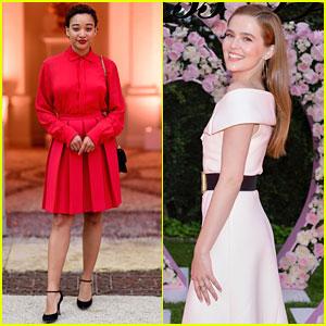 Amandla Stenberg Joins Zoey Deutch at Parfums Christian Dior Dinner