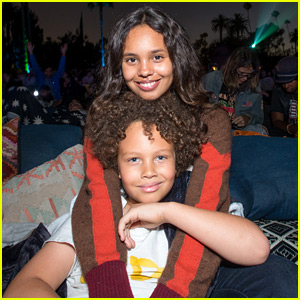 Alisha Boe Brings Little Brother to Cinespia 'Spirited Away' Screening