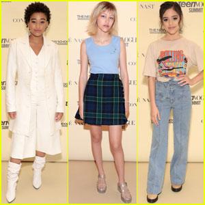 Amandla Stenberg, Grace VanderWaal & Jenna Ortega Step Out For Teen Vogue Summit