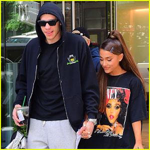 Ariana Grande Enjoys a Pre-Birthday Lunch with Pete Davidson