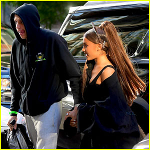 Ariana Grande & Pete Davidson Hold Hands Ahead of Her 25th Birthday