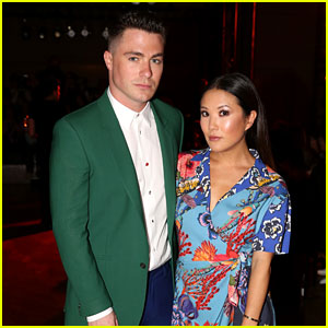 BFFs Colton Haynes & Ally Maki Step Out for Paul Smith Show