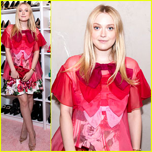 Dakota Fanning Is Pretty in Pink at Book Party!