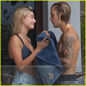 Justin Bieber Hangs Out with Hailey Baldwin in Miami